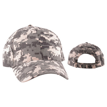 Digital Camo Structured Baseball Cap (6 Panel)