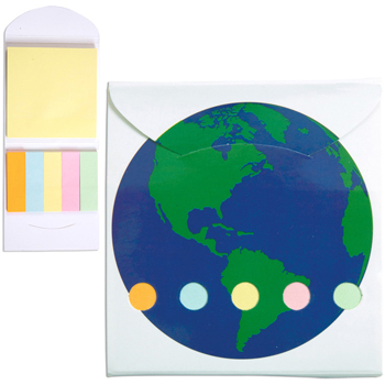 Pocket Sticky Note Memo Book - Global