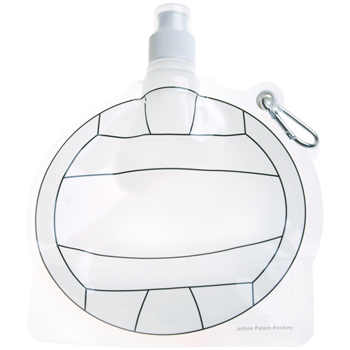 HydroPouch! 24 oz. Volleyball Collapsible Water Bottle - Patented