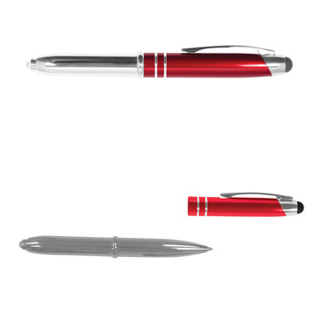 Executive 3 in 1 Metal Pen / Stylus w/ LED Light